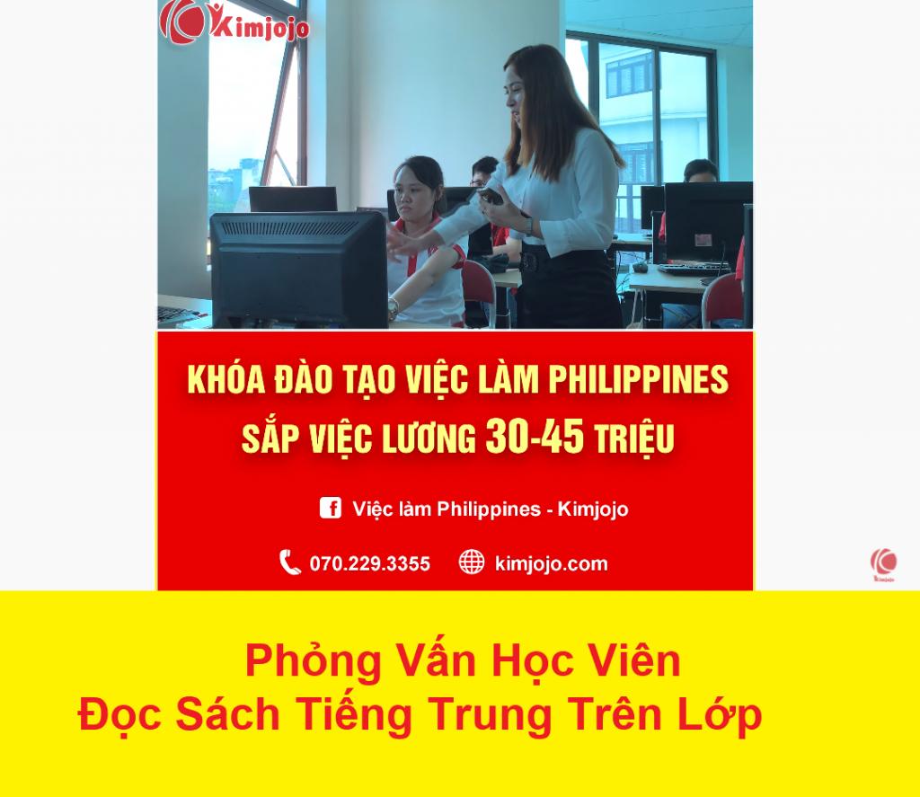 Học viên đọc chữ cứng tiếng Trung sau 2 tháng