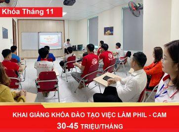 Khai giảng khóa đào tạo Tháng 11
